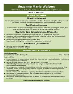 Medical Assistant Qualifications For Resume | Free Resume ...