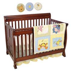 Kids Line Pooh Soft Fuzzy 7 Piece Crib Bedding Set
