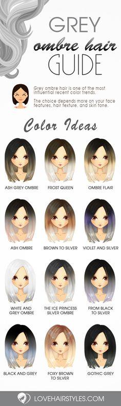Grey Ombre Hair Idea