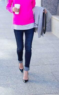 bright pink / grey /