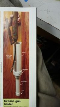 Grease gun holder, pvc pipe, French cleat | Maker Space ...