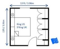 Master bedroom size and layout (no ensuite) on Pinterest ...
