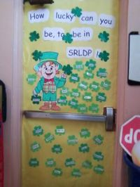 St. Patrick's Day Double Door Decoration | Mrs. Hernandez ...