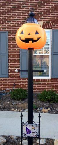 Halloween thanksgiving pumpkin jack o lantern lamppost ...