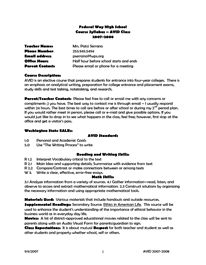 Syllabus Template Middle School | Sample CV Resume