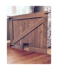 Painted X Design Barn Door Baby | Dog Gate by Rustic Luxe ...