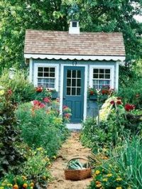 Garden shed trim, door, and flower box. Cute. | Nest ...