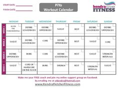 TurboFire Class Schedule Month 1 | DVD Fitness Schedules ...