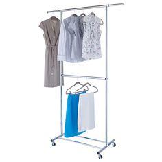 Intermetro Clothes Rack With Cotton Canvas Cover Coats