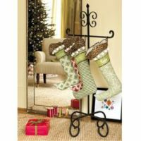 Free Standing Wrought Iron Christmas Stocking Holder ...