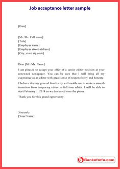 Sample Of Student Acceptance Letter Examples Of Letters Interview Acceptance Letter Example Of A Letter Sent Via