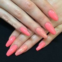 Coffin nails, Nails and Coral on Pinterest