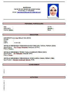 contoh resume bahasa malaysia terbaik resume maker create