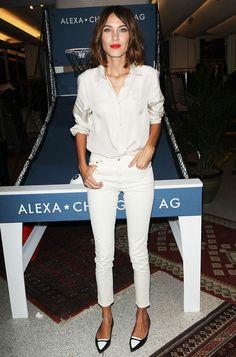 Alexa Chung wears a