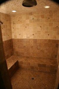 Master bath remodel, 3/8 heavy glass shower door, 4x4 ...