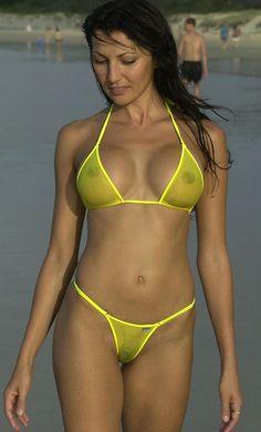 nipples see through bikinis