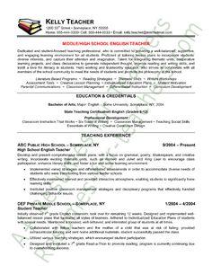 Sample Resume Of English Teacher India | Cv Guide Kent