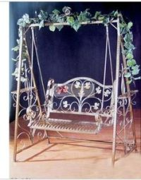 black iron double rocking chair | iron outdoor swing chair ...