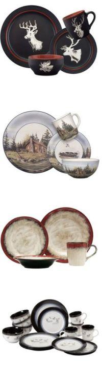 rustic dinnerware sets clearance   ...  Rustic Cabin ...