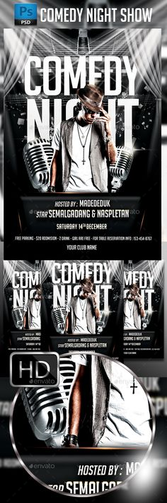 Comedy Show Flyer Flyers, Comedy show and Comedy - comedy show flyer template