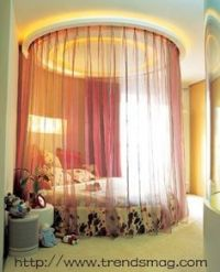 Would you in a square room, with a round bed? on Pinterest ...