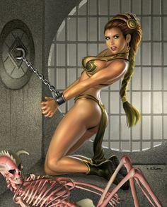 princess leia slave nude