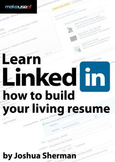 How To Build Your Living Resume In Linkedin Professional resumes