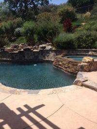 Pool built into hill | Backyard & Pool Ideas | Pinterest