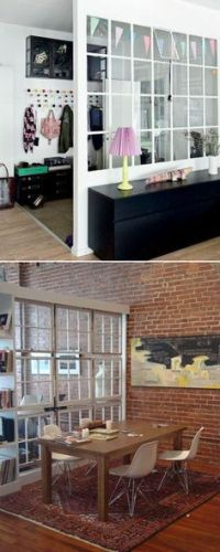 Wood and metal wall divider- open concept without closing ...