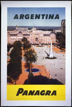 Buenos Aires • Aerolineas Argentinas #travel #poster | Jet Set | Pinterest | Buses, Argentina ...
