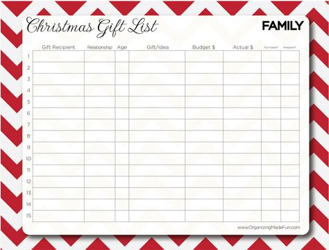 17 best images about christmas lists on Pinterest Christmas - christmas list format