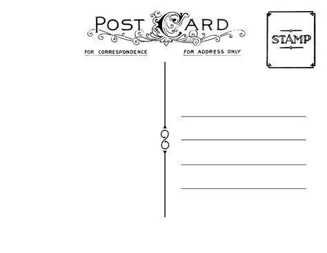 Backside Of Postcard Template - Ecordura - printable postcard template free