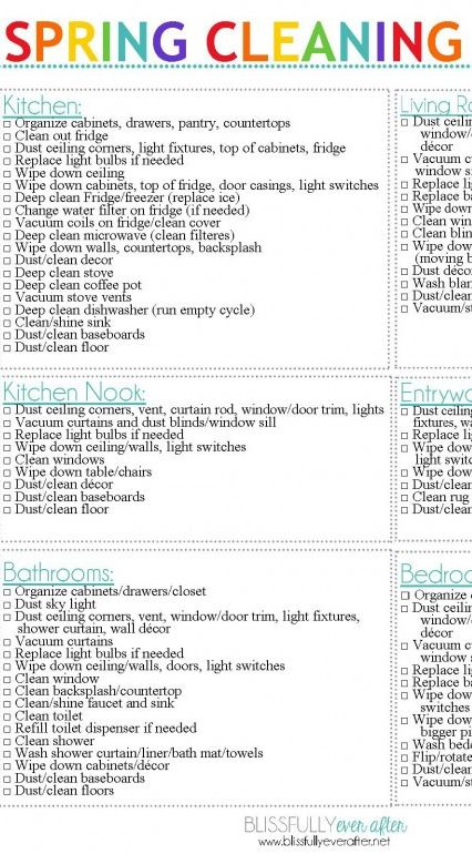17 Best images about Spring Cleaning on Pinterest Boxes, Spring - spring cleaning checklist