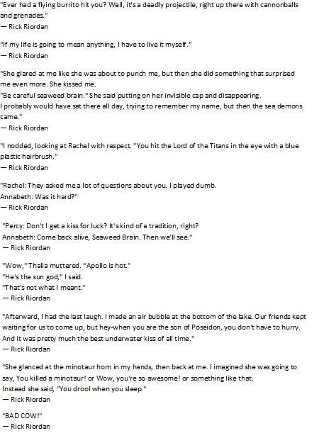 Percy Jackson moments