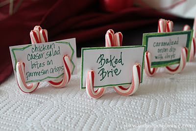 Candy Cane Place Card Holders – Perfect #craft for your next Christmas party. #t