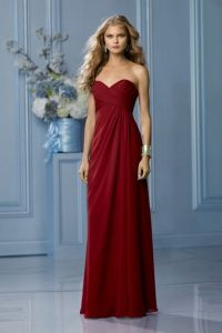 Cranberry colored Bridesmaid dresses. Perfect for a fall ...