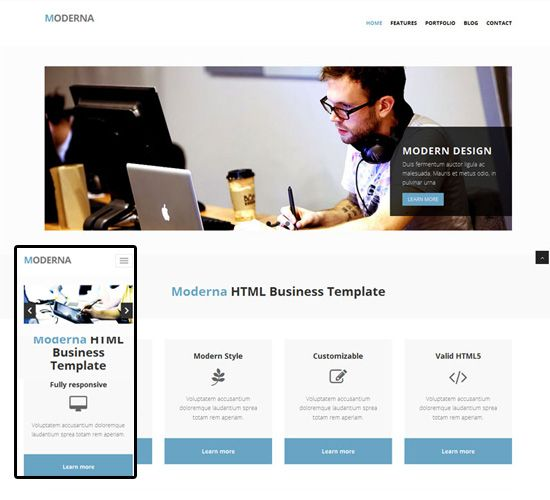 Business Responsive Templates: Black, Personal, Organizing, Small
