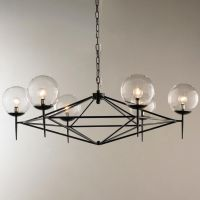 Modern Pyramid Glass Globes Chandelier | Pinterest ...