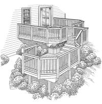 Eplans Deck Plan - Two Levels Connected by Stairs from ...