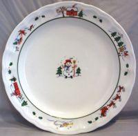 PFALTZGRAFF SNOW VILLAGE 7 DINNER PLATES CHRISTMAS WINTER ...