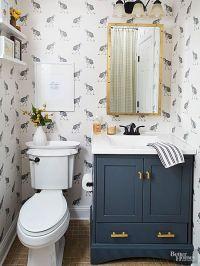Bathroom Vanity Ideas | Vanities, Cabinets and Navy paint
