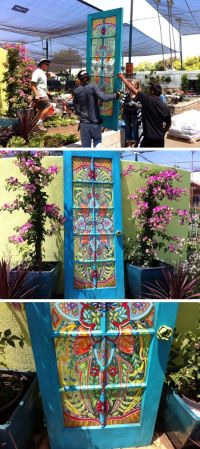Gardens, Idea paint and Doors on Pinterest