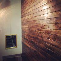 DIY wood panel wall #diy pine oak panelling