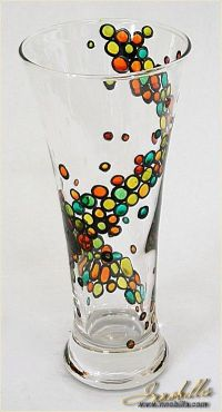 Vase | Hand painted stained glass. | Colorful rainbow ...