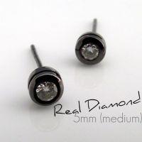 Real diamond stud earrings for men, mens diamond studs ...