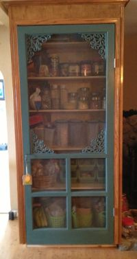 Old screen door on the pantry!  Home Decor Ideas