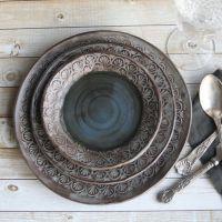 Handmade ceramic, Rustic dinnerware and Place settings on ...