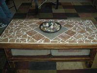 DIY mosaic tile coffee table. | Table Mosaic Ideas ...