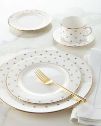 Dinnerware, Kate spade and Gold polka dots on Pinterest