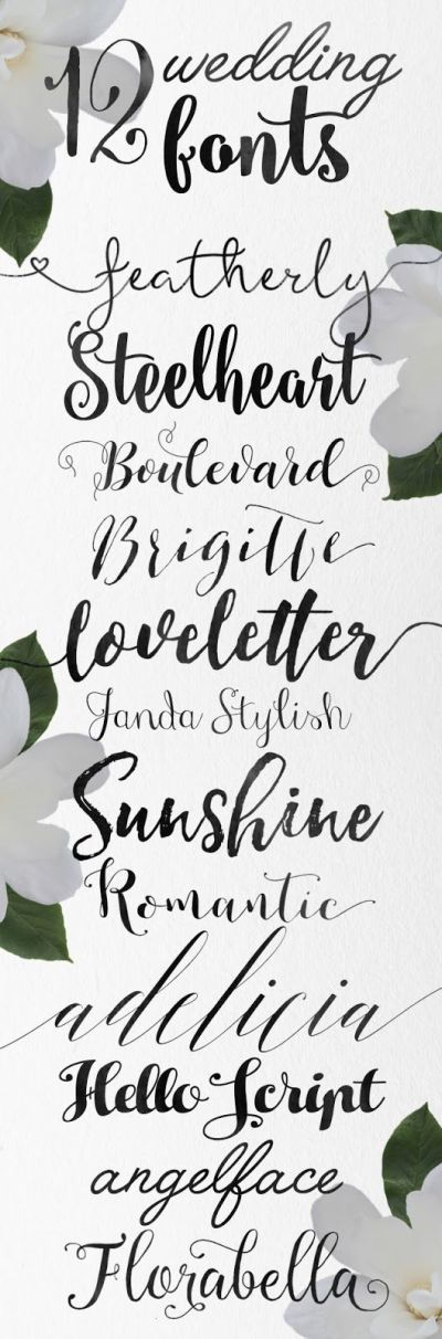 Wedding fonts, Fonts and Calligraphy on Pinterest